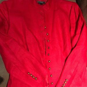 Bright Red Lauren by Ralph Lauren Jacket